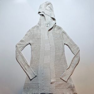 Roxy stone/khaki hooded sweater cardigan